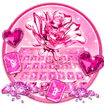 Crystal Glitter Love Rose Keyboard icon