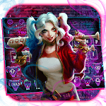 Devil Joker Girl Keyboard Theme icon