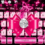 Luxury Diamond Pink Bow Keyboard Theme for pc icon