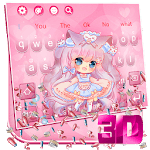 3D Charming Cute Girl Gravity Keyboard Theme👧 icon