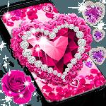 Diamond rose glitter live wallpaper icon