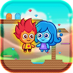 Fire and Water Maze - Crazy Boy and Lovely Girl APK icon