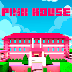 Pink Princess House Craft Game for pc icon