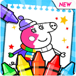 coloring book pepa icon