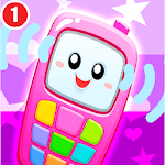 Pink Baby Phone Kids - Number Animal Music icon