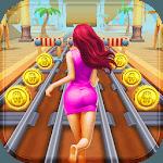 Pink Princess Run - Subway Escape Girl Run Temple APK icon