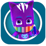 coloring book pj-masks icon