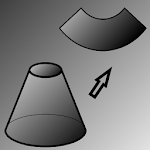 Flat pattern cone. icon
