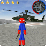 Spider Stickman Rope Hero Gangstar Crime icon