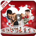 Valentine video maker with music - Photo Slideshow for pc icon