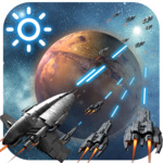 3D Space Fighting Clock Widget FOR PC