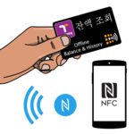 Shows T-money card balance icon