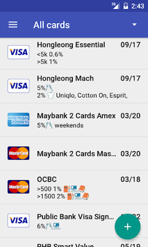 Credit Card Manager apk screenshot