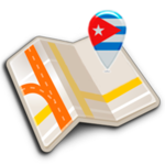 Map of Cuba offline icon