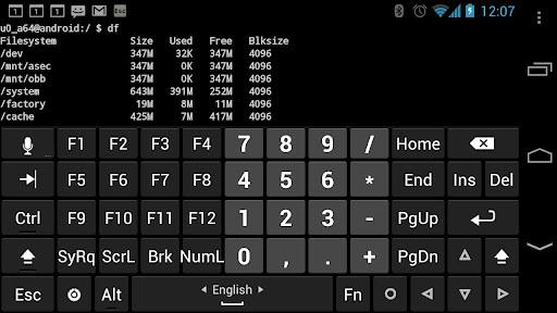 Hacker's Keyboard APK screenshot 1