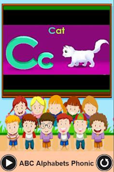 ABC English Alphabets Phonic Sounds for kids. APK screenshot 1