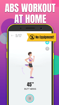 Abs workout - do exercise at home & lose belly fat APK screenshot 1