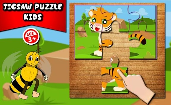 Kids Animals Jigsaw puzzle  : Little Bee APK screenshot 1