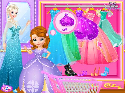 Elsas cloths shop - Dress up games for girls APK screenshot 1