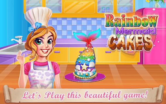 Rainbow Mermaid Cake APK screenshot 1