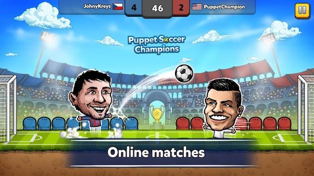 ⚽ Puppet Soccer Champions – League ❤️🏆 APK screenshot 1