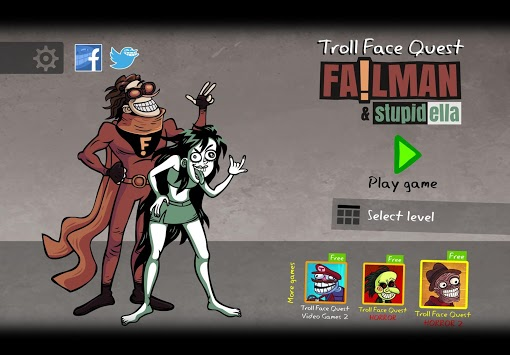 Troll Face Quest: Stupidella and Failman APK screenshot 1