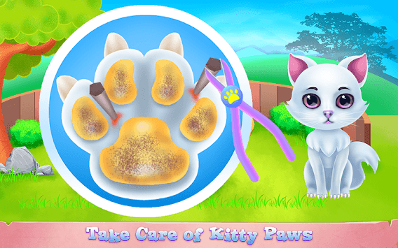 Cute Kitty Caring and Dressup APK screenshot 1