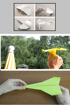 Origami paper airplanes up to 100 meters APK screenshot 1