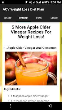 7 Days Apple Cider Vinegar Weight Loss Diet Plan APK screenshot 1