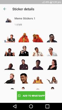 Meme Stickers - WAStickerApps APK screenshot 1