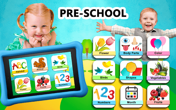 Preschool Learning ! Kids ABC, Number, Color games APK screenshot 1