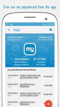 paysafecard – pay cash online APK screenshot 1