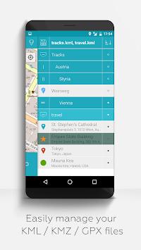 MAPinr-KML/KMZ/WMS/GPX/OFFLINE APK screenshot 1