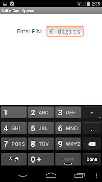 Salt mCodeXpress APK screenshot 1