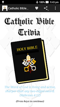 Catholic Bible Trivia APK screenshot 1