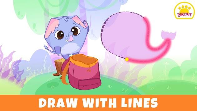Learning Games for Toddler - Bibi.Pet Jungle APK screenshot 1