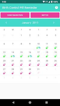 Birth Control Pill Reminder & Tracker APK screenshot 1