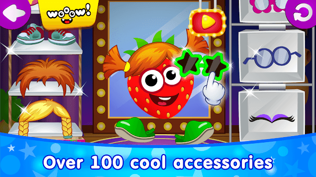 Funny Food DRESS UP games for toddlers and kids!😎 APK screenshot 1