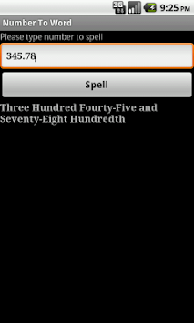 Spell Numbers APK screenshot 1