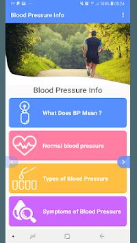 Blood Pressure - BP INFO APK screenshot 1