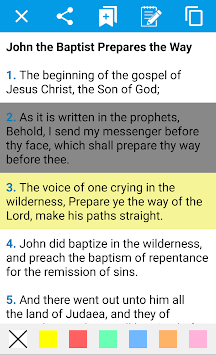 Holy Bible in English for Android APK screenshot 1