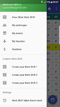 Work Shift Table APK screenshot 1