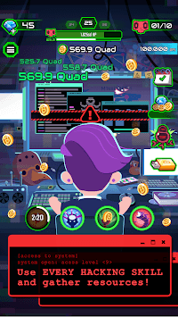 Hacking Hero - Cyber Adventure Clicker APK screenshot 1