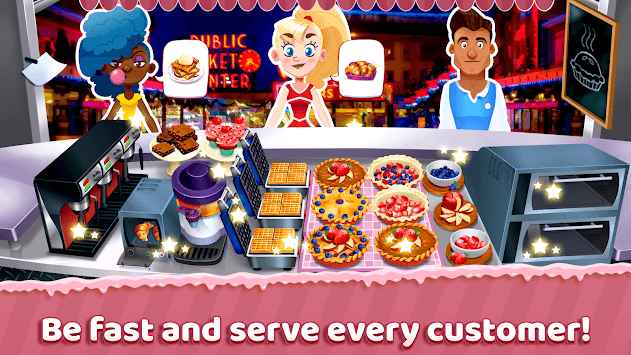 Seattle Pie Truck - Fast Food Cooking Game APK screenshot 1