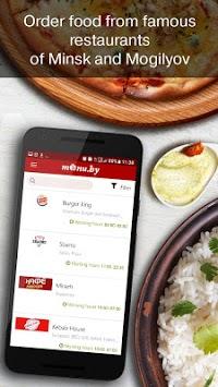 Menu.by — restaurant food delivery APK screenshot 1