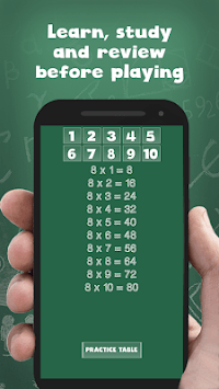 Multiplication tables for kids free - math game APK screenshot 1