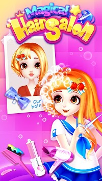 Magical Hair Salon: Girl Makeover APK screenshot 1