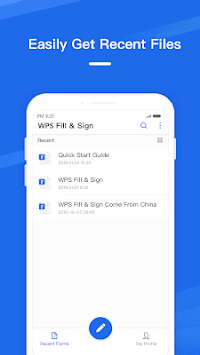 WPS Fill & Sign APK screenshot 1