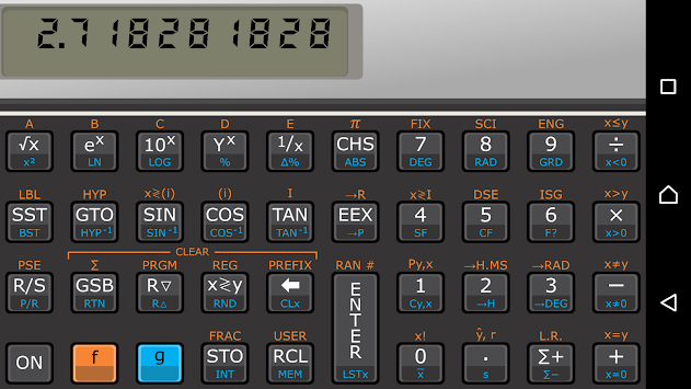Touch 11i free sci calculator APK screenshot 1