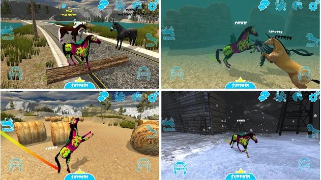 Hill Cliff Horse - Online APK screenshot 1